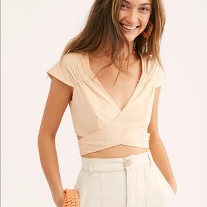 Free People Nino Wrap Crop Top M